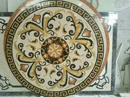 Mixed Color Round Mosaic Medallion Floor Patterns For Hotel / Residential