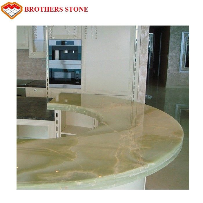 Brothers Stone Luxury Green Onyx Light Green Onyx Table Top