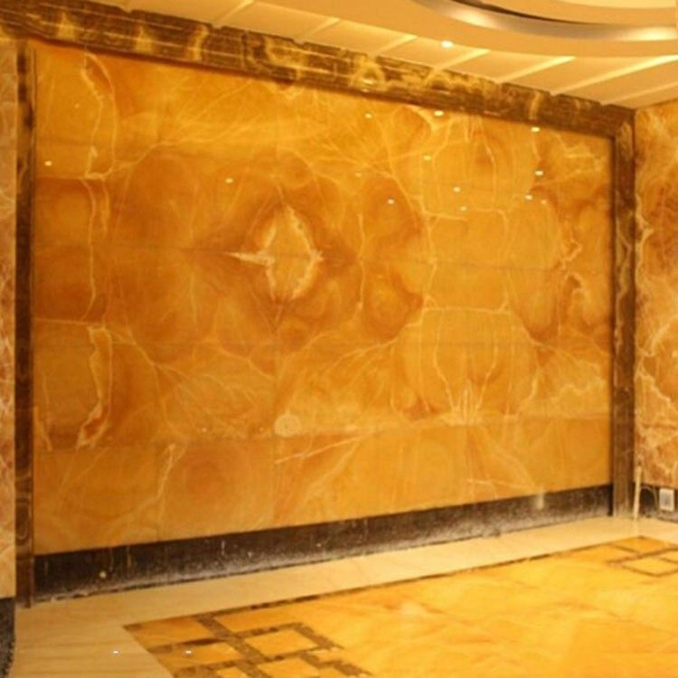 Indoor High Grade Honey Onyx Slab 17mm Thickness For Sink And Basin