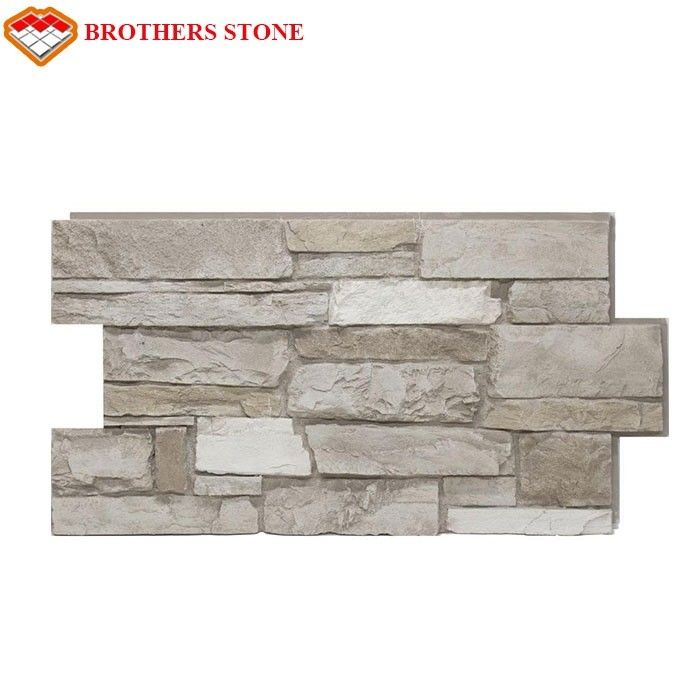Rectangle Nature Cultured Stone Panel Wall Stone Veneer / Ledge Stone Veneer