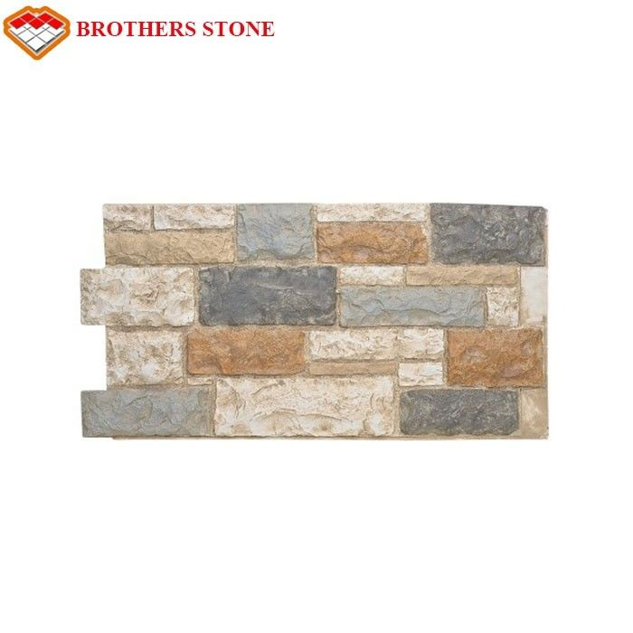 Rusty Slate Cultured Stone Wall Cladding, Stacked Stone Panel, Ledger Stone Veneer